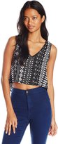 Angie Junior's Lace Trim Crop Top