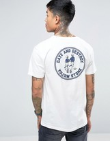 Volcom Dater Bsc T-shirt In White With Backprint