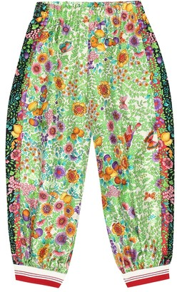 Gucci Kids Floral silk pants
