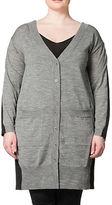 Carmakoma Plus Plus Colourblocked Wool-Blend Cardigan
