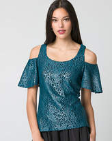 Le Château Lace Cold Shoulder Top