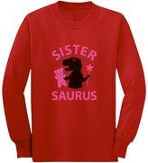 TeeStars Sister - Saurus Cute Gift for Big Sister Girls T-Rex Long sleeve kids T-Shirt