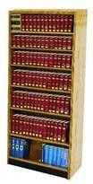 Heller W.C. Open Back Single Face Standard Bookcase W.C. Finish: Spiced Walnut