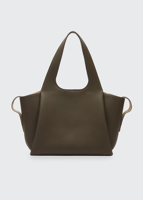 The Row Large TR1 Bag in Matte Grain Leather