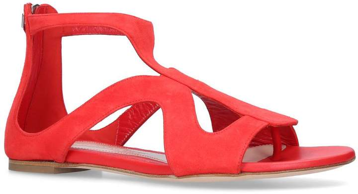 Alexander McQueen Suede Caged Sandals