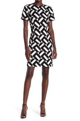 trina Trina Turk Zap Geo Print Sheath Dress