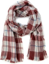 Sole Society Scotch Wool Plaid Scarf