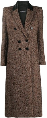 Patrizia Pepe Herringbone Double-Breasted Coat