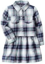 Carter's Girls 4-8 Plaid Drop-Waist Dress