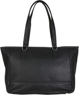Hadaki Black Cosmopolitan Leather Tote