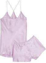 Olivia von Halle Bella Silk-charmeuse Pajama Set
