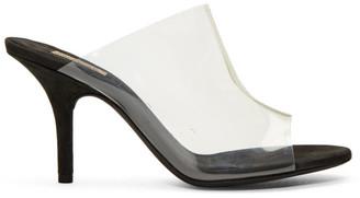 Yeezy Transparent and Black PVC Sandals