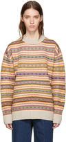 Stella McCartney Multicolor Wool Crewneck Sweater