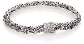 John Hardy Women's Classic Chain Diamond & Sterling Silver Extra-Small Twisted Bracelet