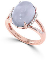 Effy Final Call Diamond, Quartz Chalcedony & 14K Rose Gold Ring