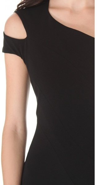 Thierry Mugler Stretch Dress with Short Sleeves