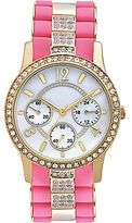JCPenney Crystal-Accent Two-Tone Bracelet Watch