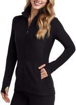 Cuddl Duds Black Fleecewear Zip-Up Jacket