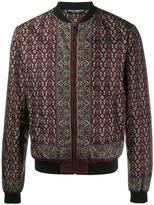 Dolce & Gabbana floral & pistol print bomber jacket