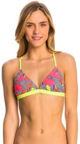 Speedo Turnz Maze Printed Tie Back Swim Top 8138499