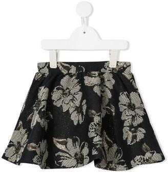 Tartine et Chocolat floral A-line skirt