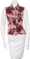 Piazza Sempione Silk Rose Print Top