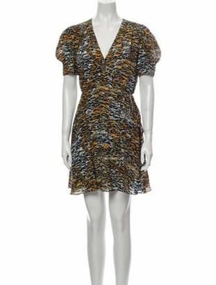 Saloni Silk Mini Dress Yellow