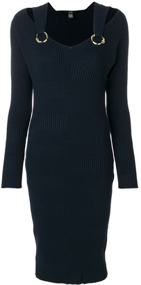 Class Roberto Cavalli Ribbed Knitted Midi Dress