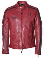 Blauer Men's Red Leather Outerwear Jacket.