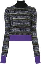 Le Ciel Bleu fair-isle knit roll-neck sweater