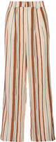 Raoul Boyfriend striped silk crepe de chine wide-leg pants