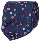 Thomas Nash Navy Floral Tie
