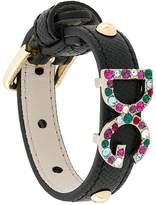 Dolce & Gabbana crystal detail bracelet