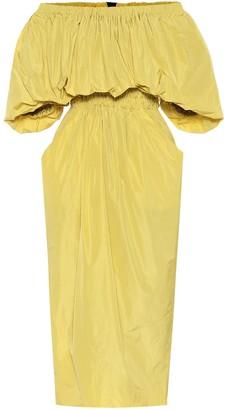 Dries Van Noten Off-shoulder midi dress