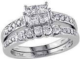 Affinity Diamond Jewelry Cluster Diamond Ring Set, 14K White Gold, byAffinity