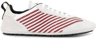Dolce & Gabbana Woven-Detail Low-Top Sneakers