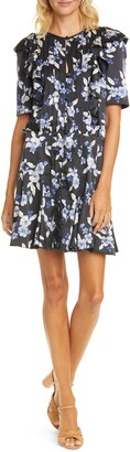 Veronica Beard Camillie Floral Silk Blend Mini Dress