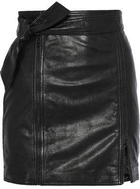 J Brand Christa Zip-detailed Leather Mini Skirt