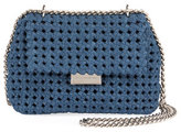 Stella McCartney Becks Woven Medium Shoulder Bag, Blue