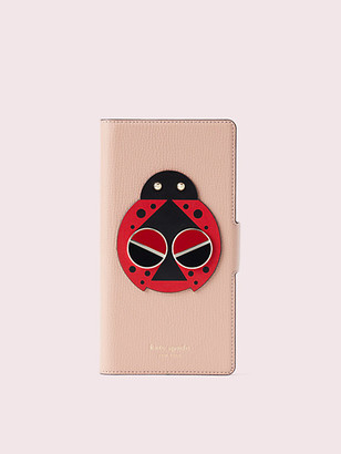 Kate Spade Spademals Lucky Ladybug Iphone Xs Max Folio Case