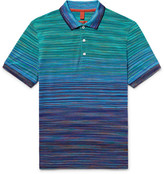 Missoni Slim-Fit Space-Dyed Knitted Cotton Polo Shirt