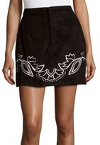 MinkPink Embroidered Cotton Skirt