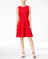 Tommy Hilfiger Ribbed Knit Fit & Flare Dress