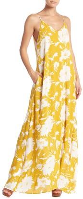 WEST KEI Floral V-Neck Maxi Dress