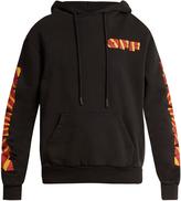 Off-White Rays logo-print hooded cotton-jersey sweatshirt