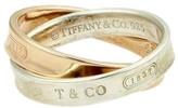 Tiffany & Co. Vintage 18k Rose Gold & 925 Silver Interlocking Bands Ring