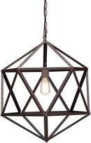 ZUO Era Small Amethyst Ceiling Lamp in Rust