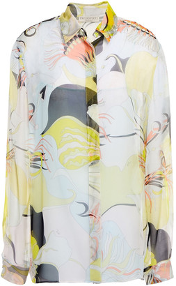 Emilio Pucci Printed Silk-voile Shirt