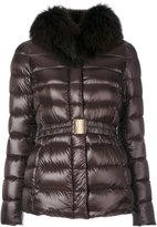 Herno furry neck padded jacket