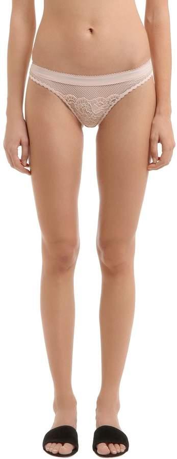 Stella McCartney Underwear Sophie Surprising Lace & Mesh Briefs